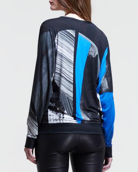 Abstract-Print Pullover Sweatshirt