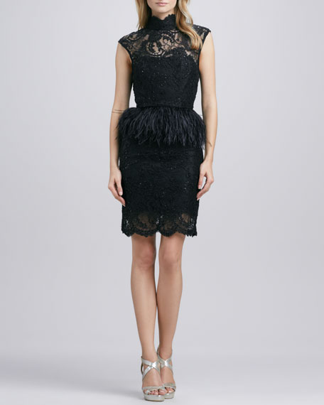 Patricia Feather-Peplum Dress
