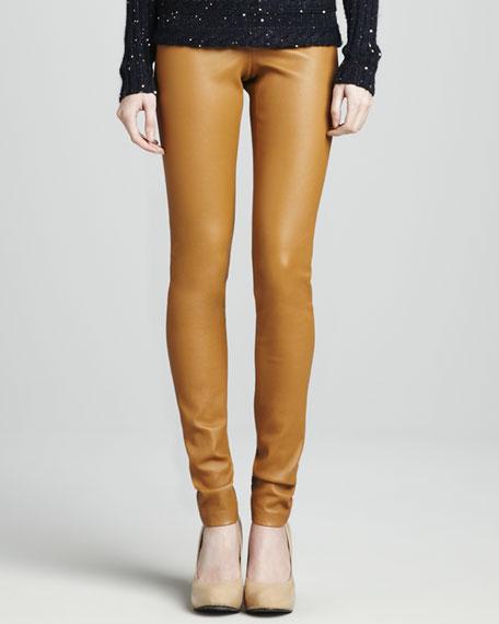 Leather Leggings, Camel