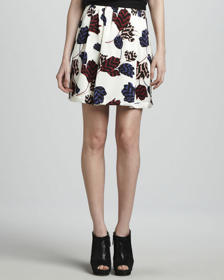 Marie Tulip-Print Skirt