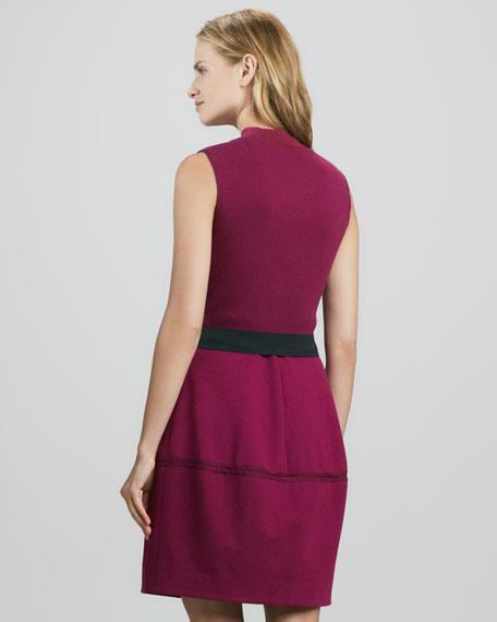 Sleeveless Ribbed-Top Dress