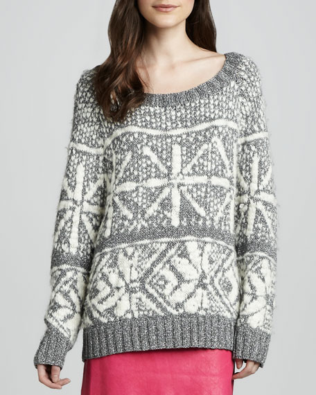 Lucille Shimmery Snowflake Sweater