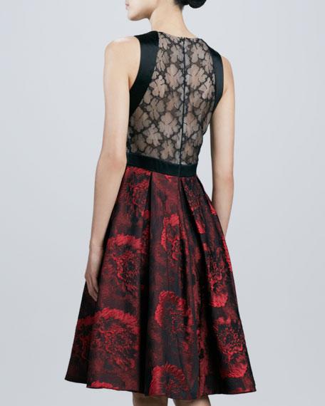 Sleeveless Full-Skirt Cocktail Dress