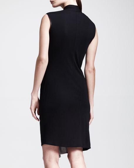 Colorblock Draped Jersey Dress