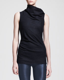 Helmut Lang Sonar Wool Asymmetric-Neck Top