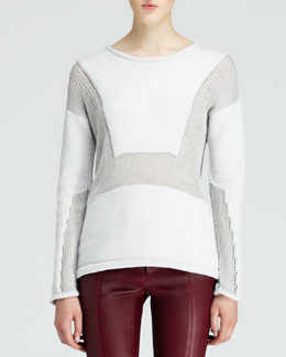 Helmut Lang Inverse Textured Knit Sweater