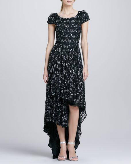 Glen Hi-Lo Dress