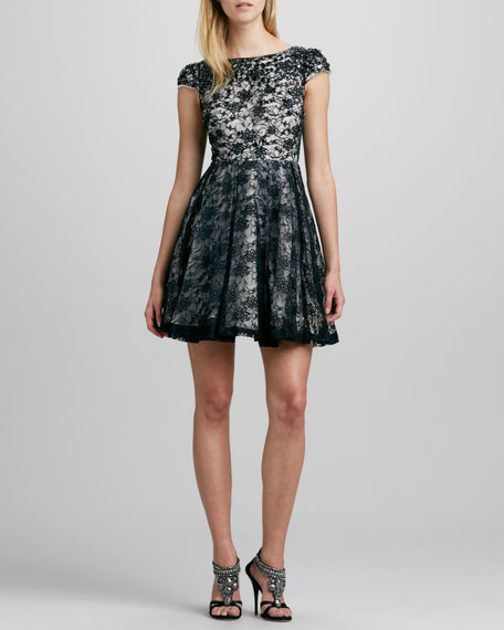 Aubree Crystal-Embellished Lace Dress