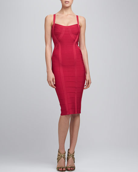 Thin-Strap Bandage Dress