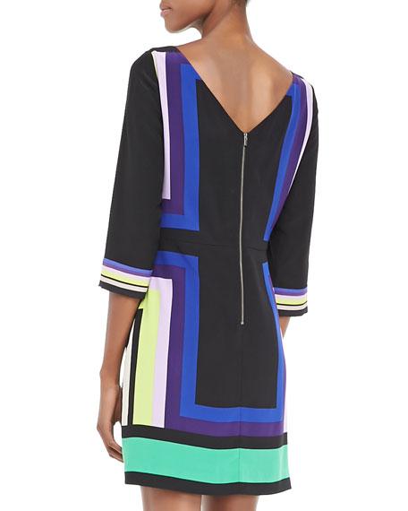 Avery Geometric Pattern Dress