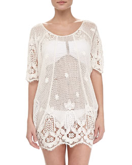 Jessica Sheer Scalloped Coverup
