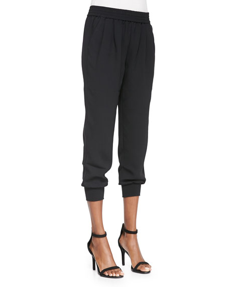 Mariner Knit Cropped-Leg Pants