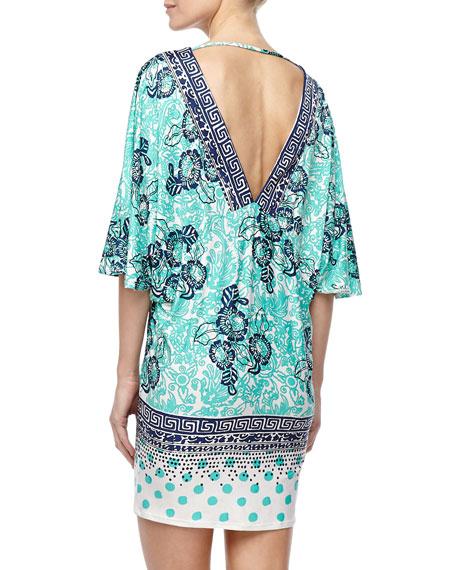 Batiki Mixed-Print Tunic