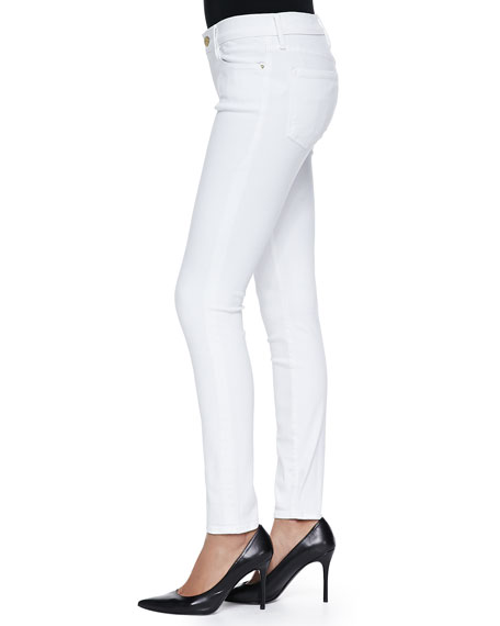 Le Color Skinny Denim Jeans, Blanc De Blancs