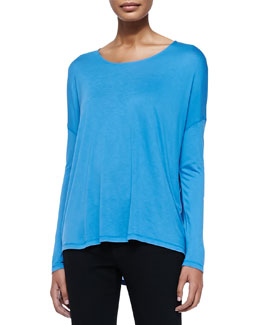 Long-Sleeve Tee W/ Dropped Shoulders