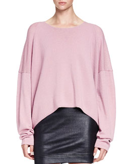 Oversized Pullover W/ Dropped Sleeves