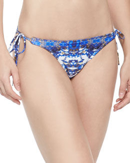 Pyramid Printed Tie-Side Swim Bottom