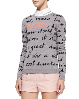 Long-Sleeve Poem Pullover