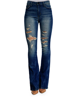 Gretchen High-Rise Flared-Leg Jeans