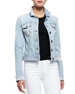 Vermont Distressed Denim Jacket