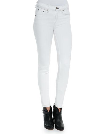 Mid-Rise Super Skinny Jeans, Bright White
