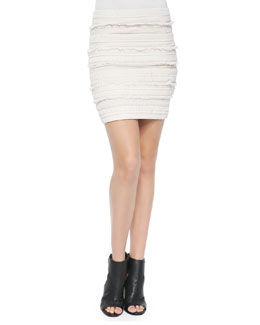Occeli Pattern-Stripe Pencil Skirt