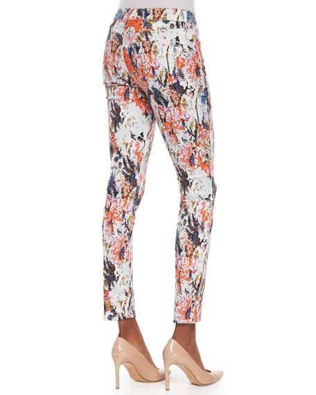 The Ankle Skinny Jeans, Floral Haze