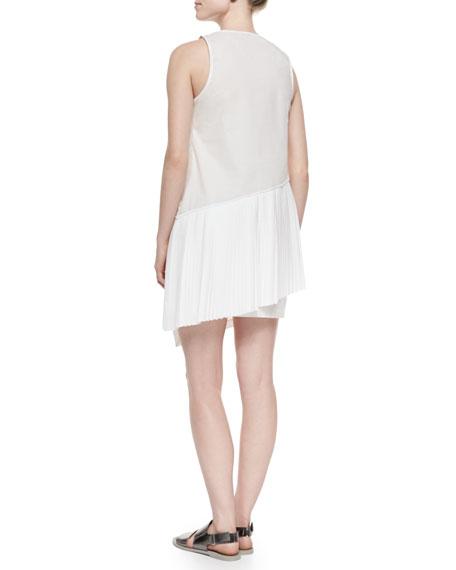 Knit/Chiffon/Poplin Layered Combo Dress