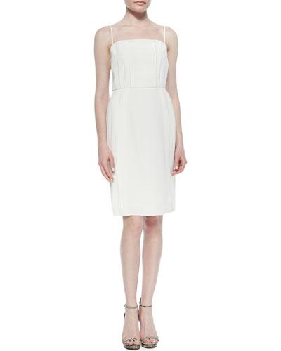 Priscilla Knife-Pleat Dress