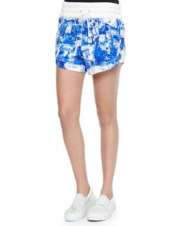 Villous Printed Drawstring Shorts