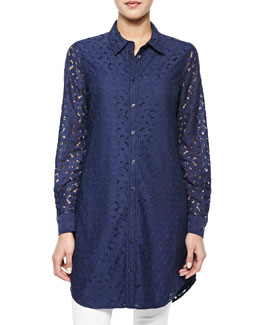 Brett Long-Sleeve Lace Tunic