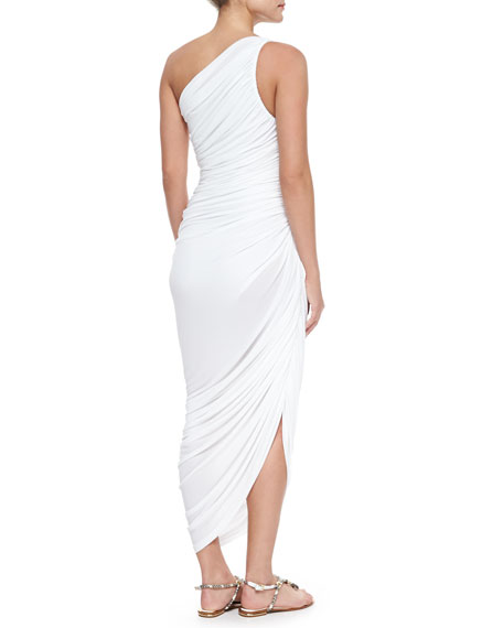 Diana Ruched One-Shoulder Gown