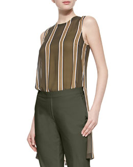 Pinga Striped Slit-Hem Blouse