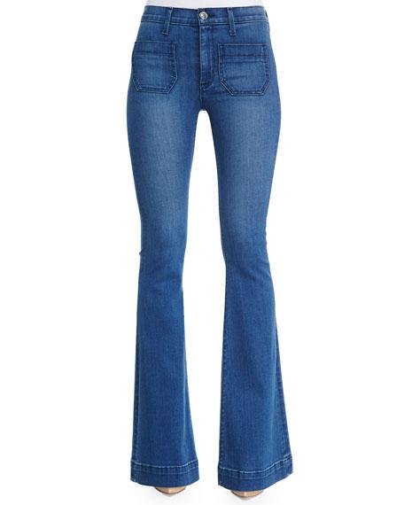 Taylor High-Waist Flare-Leg Jeans, Superior