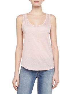 Natasha Jersey Knit Tank Top, Pink