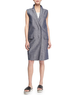 Harold Raw-Edge Trim Vest