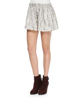 Holten Printed Silk Twill Shorts