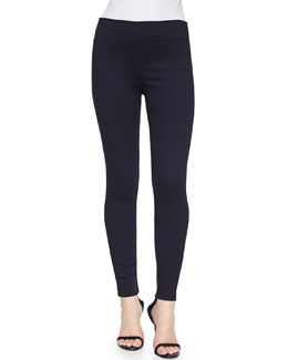 Stretch Denim Leggings, Indigo