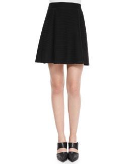 Ottoman Knit A-Line Skirt