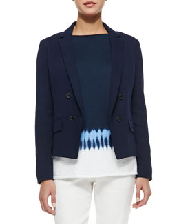 Short Double-Breasted Blazer
