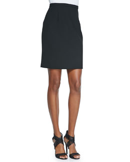 Eliza Pleated-Back Pencil Skirt