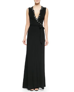 Orchid Hardware-Trim Maxi Dress