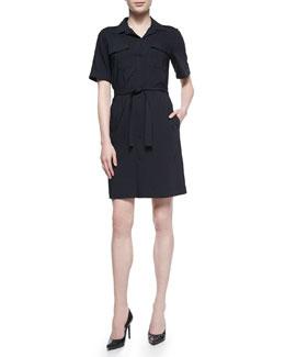 Stenna Tie-Waist Poplin Dress