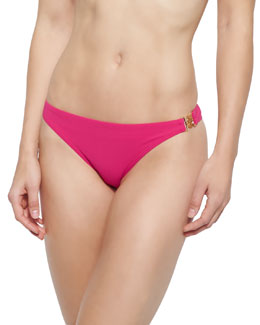 Solid Logo Hipster Swim Bottom, Pink