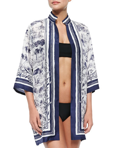 Frenesi Printed Open Coverup
