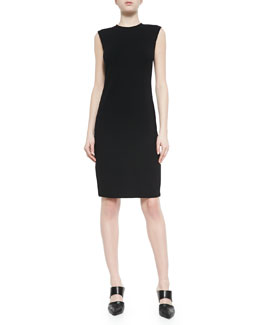 Sleeveless Fitted Ponte Dress