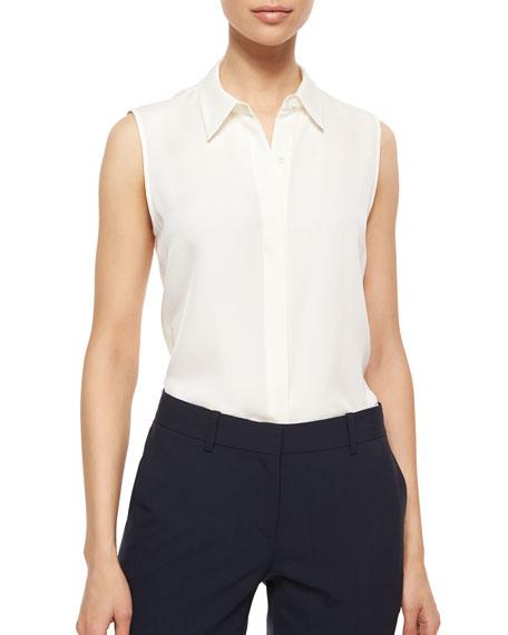 84d5bd42be6 Theory Tanelis Sleeveless Silk Blouse & Lijnek Fixture Slim Ponte Skirt