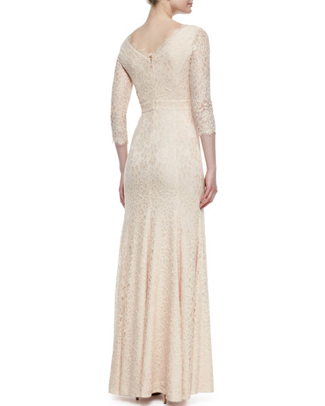 Evening dress with lace sleeves ukm