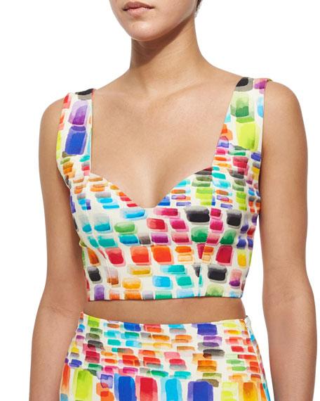 Alexis Ayden Printed Sleeveless Crop Top