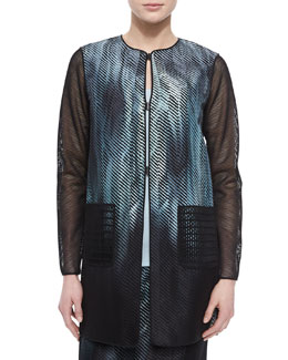 Reversible Melody Mesh-Sleeve Jacket